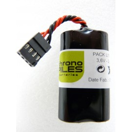 CHRONO Pack lithium LS14500 - AA - 3,6V - 2300mAh + Connecteur