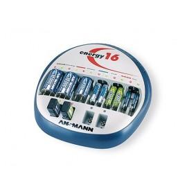 ANSMANN Chargeur de 1 à 16 accus AAA/AA/9V/C/D NiMh - Livré sans accu