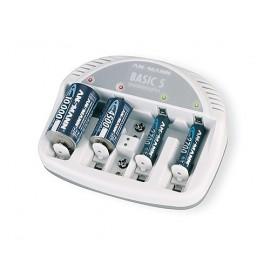 ANSMANN Chargeur de 2 à 5 accus AAA/AA/9V/C/D NiMh - Livré sans accu