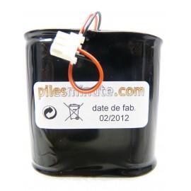 CHRONO Pile Batterie Alarme Compatible RESIDENCIA 3 / Surtec - D - LS33600 - 7.2V - 18.0Ah + Connecteur