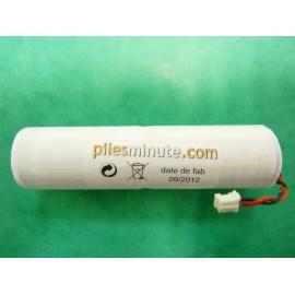 CHRONO Pile Batterie Alarme Compatible NOXALARM - C - LS26500 - 7.2V - 7.7Ah + Connecteur