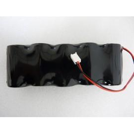 CHRONO Pile Batterie Alarme Compatible ADETEC - 5LR20 Alcaline - 7.5V - 18Ah + ConnecteurSirene W32