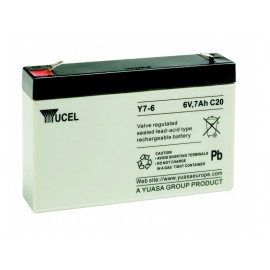 YUASA / YUCEL Batterie plomb - AGM - Y7-6 - 6V, 7Ah