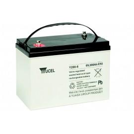 YUASA / YUCEL Batterie plomb - AGM - Y200-6 - 6V, 200Ah