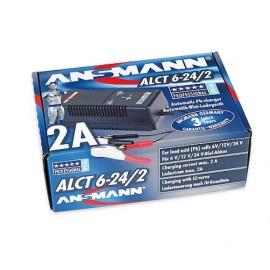 ANSMANN Chargeur Plomb - Tension réglable 6V/12V/24V Pince croco - ALCT6-24/2