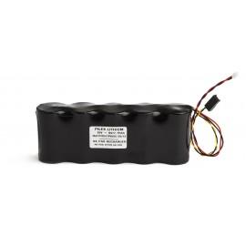 CHRONO Pile Batterie Alarme Compatible NOXALARM - D - Lithium - 9.0V/15.0V - 7.75Ah + Connecteurs