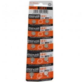 MAXELL Pile Bouton Alcaline - LR41 – 192 - LR736 - AG3 - Lot de 10