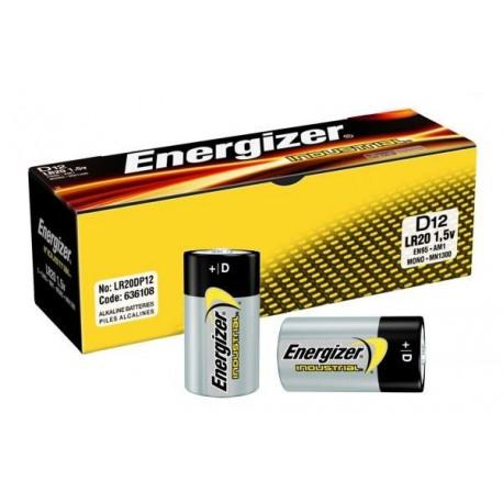 ENERGIZER LR20 - D Industrial - UM1 - Boite de 12