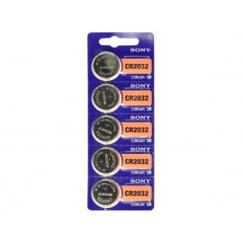 SONY Pile Bouton Lithium - CR2032 Standard - BATLI09 - Carte de 5
