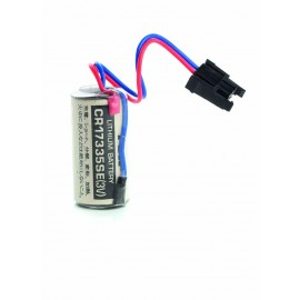 CHRONO Pile Lithium CR17335 - 3V - 1800mAh + Connecteur
