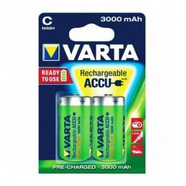 VARTA - Piles LR14C - rechargeables - 3000 mAh - Blister x2