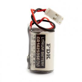 CHRONO Pile lithium CR14250 - 1/2AA - 3V - 850mAh + Connecteur